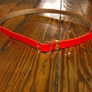 Red Jcrew Skinny Belt